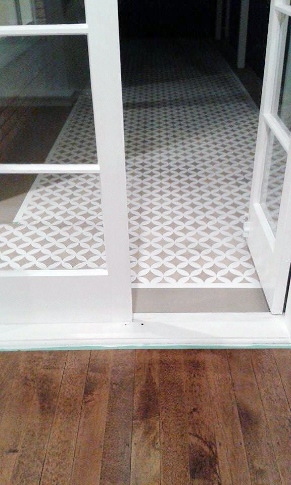 A Diy Stenciled Porch Floor Using The Nagoya Allover Geometric Pattern From Cutting