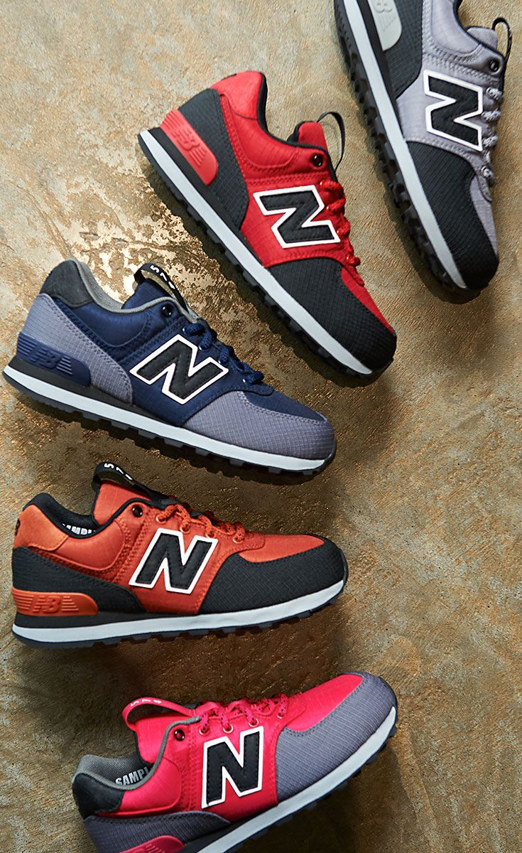 best website aada8 26f9f Lace up in fresh new colors of the kids' New Balance 574 ...
