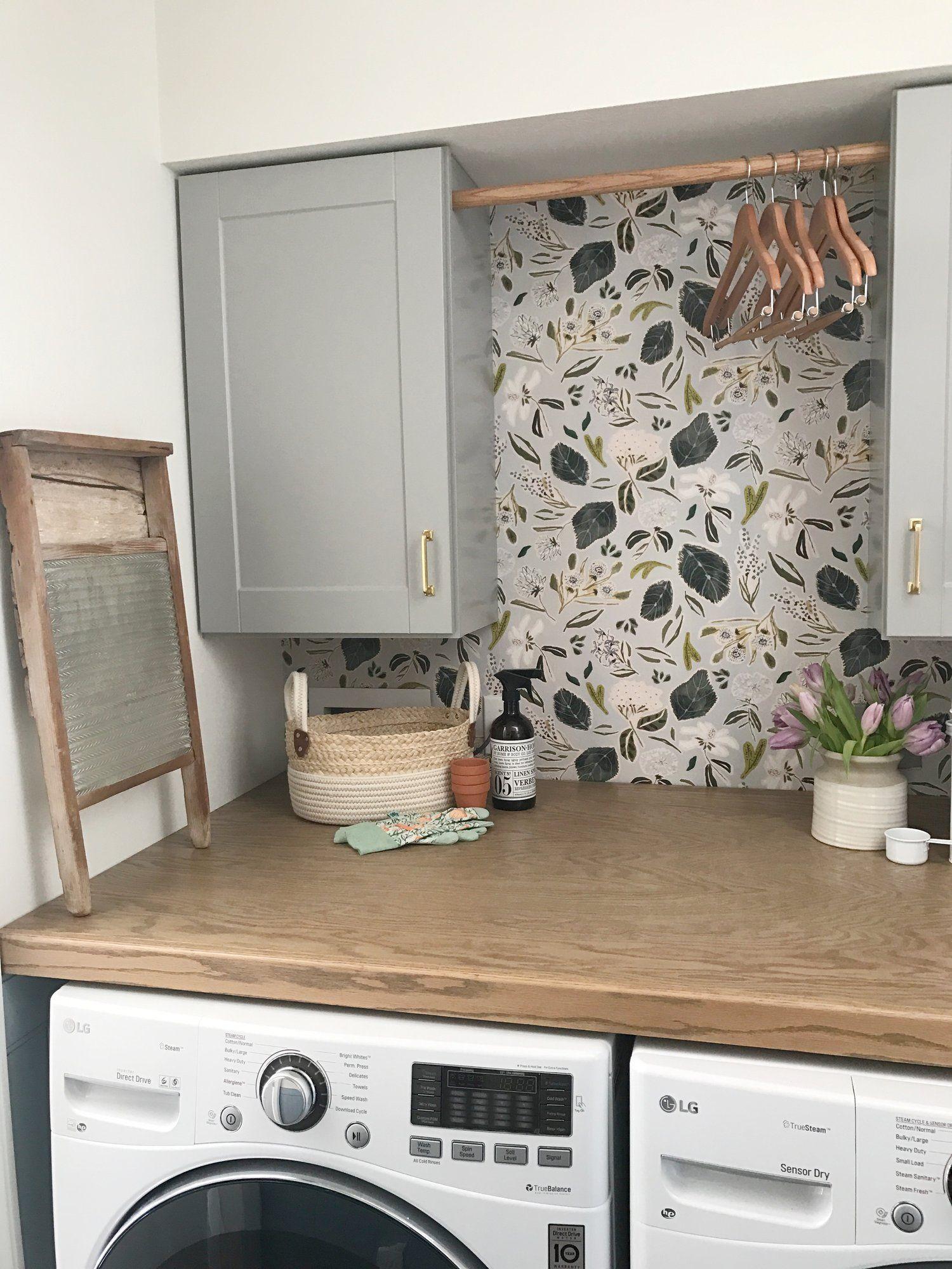 wallpapered laundry room #wohnung #wohnzimmer #einrichten ...