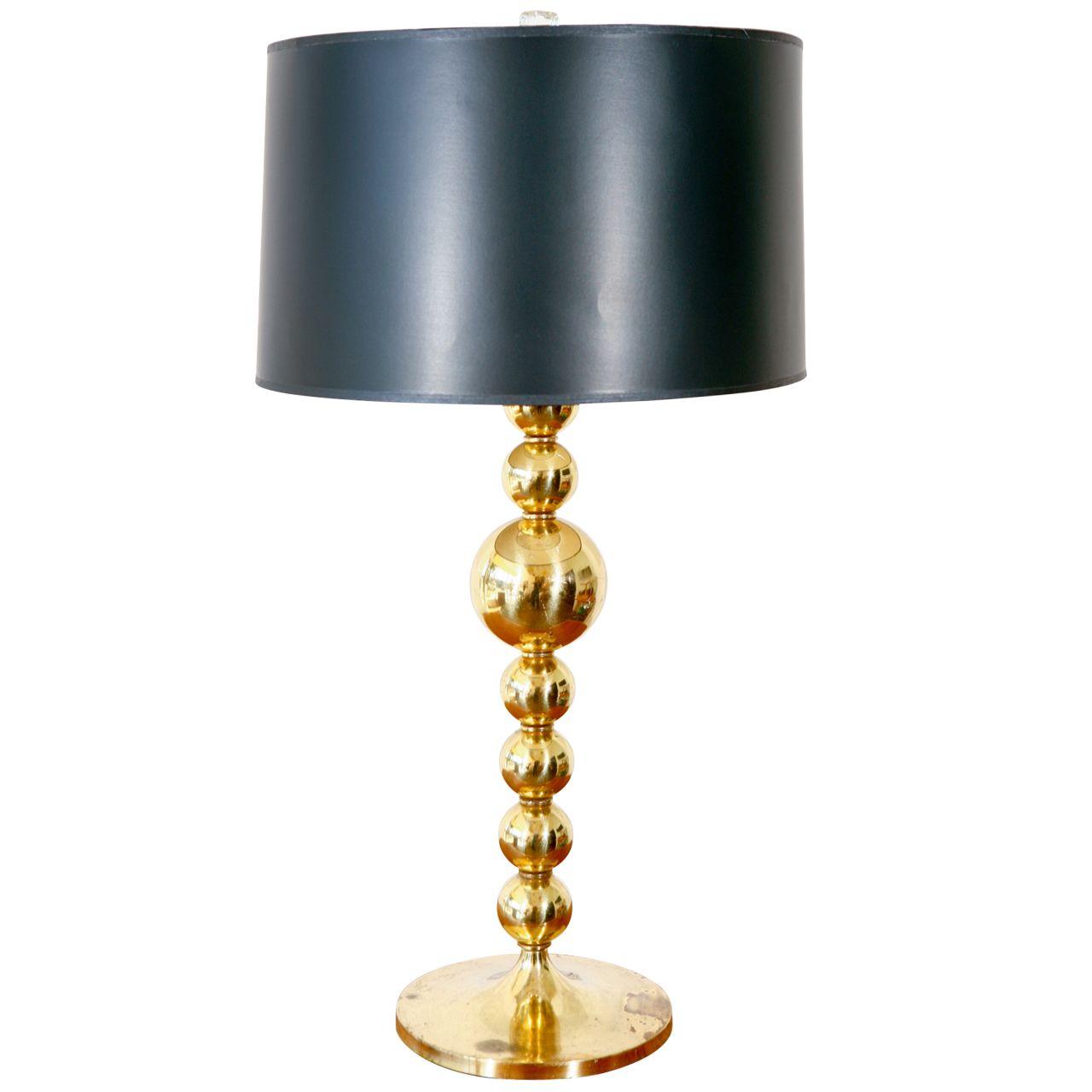 Vintage Brass Spheres Lamp Lamp Vintage Table Lamp Sphere Lamp