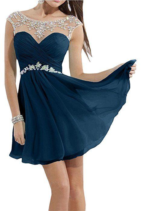 777f7579950c18 Victory Bridal Traumhaft Sommer Neu Damen Abendkleider Cocktailkleider Kurz  Brautjungfernkleider partykleid-38 Himmel Blau