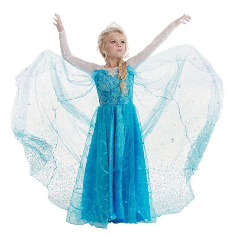 b1cc30b5d3c3a Children's Princess Girl Dress Kids Anna Elsa Costumes Dresses for Girls  The Snow Queen Christmas Toddler