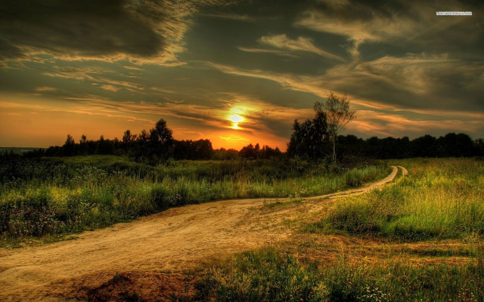 Country Sunset Country Road at Sunset wallpaper 612