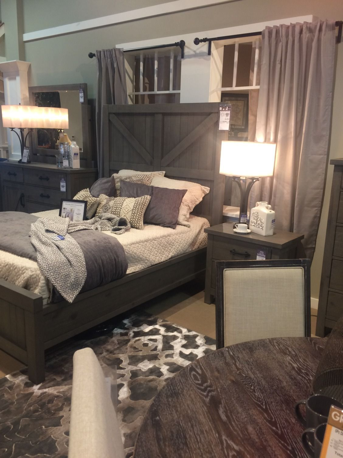 What Do You Think About This Grey Rustic Contemporary Bedroom Set
