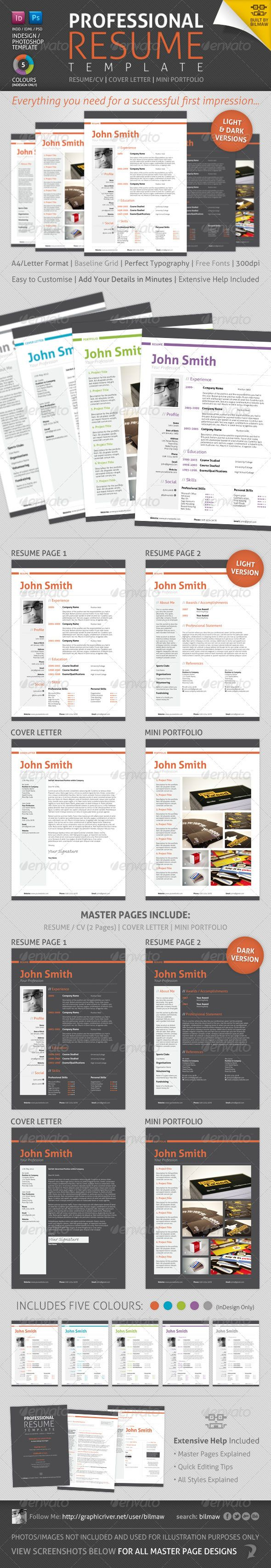 professional resume cv professional resume resume cv and stationery