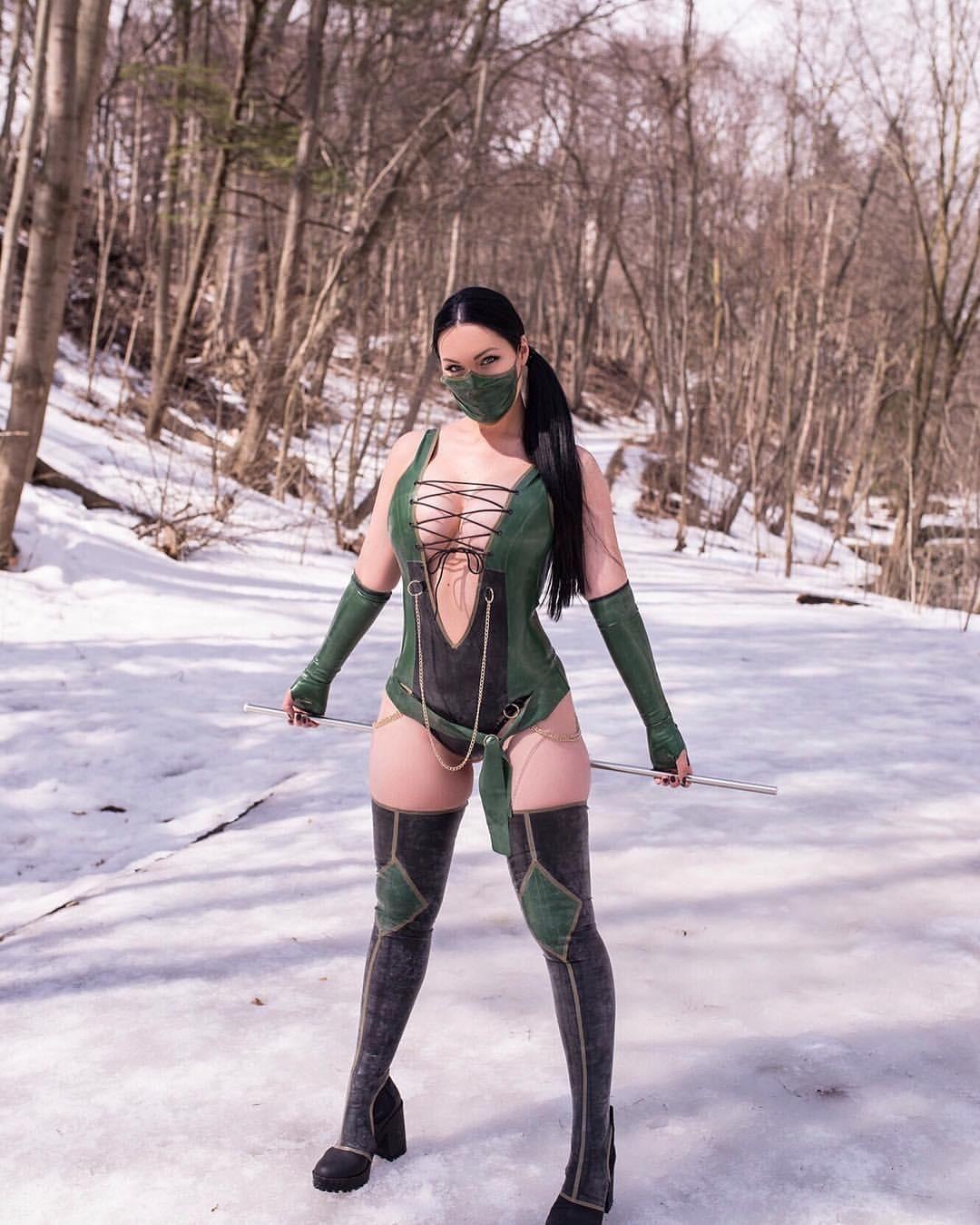 Veronika Black As Jade Mortal Kombat