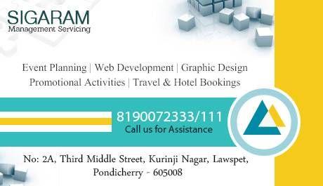 Sigaram Management Servicing Event Planning Web Designing Event Planning Event Web Design