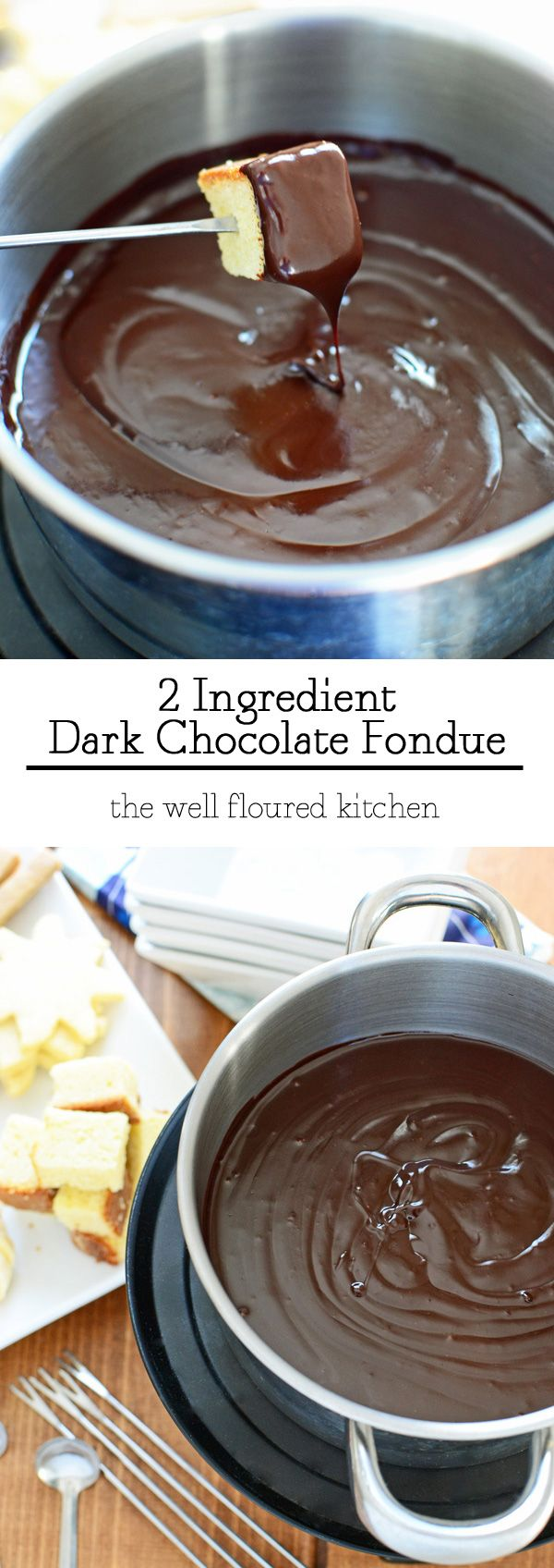 Two Ingredient Dark Chocolate Fondue