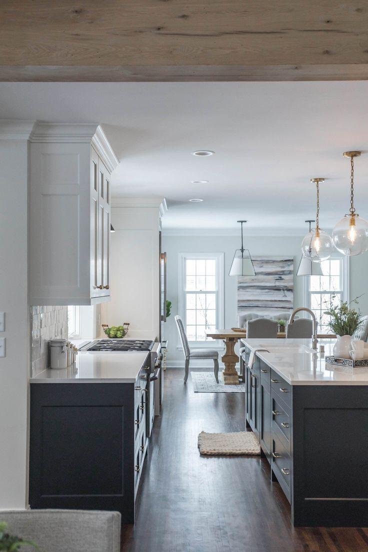 Kitchen remodel, quartz countertops, black and white ...