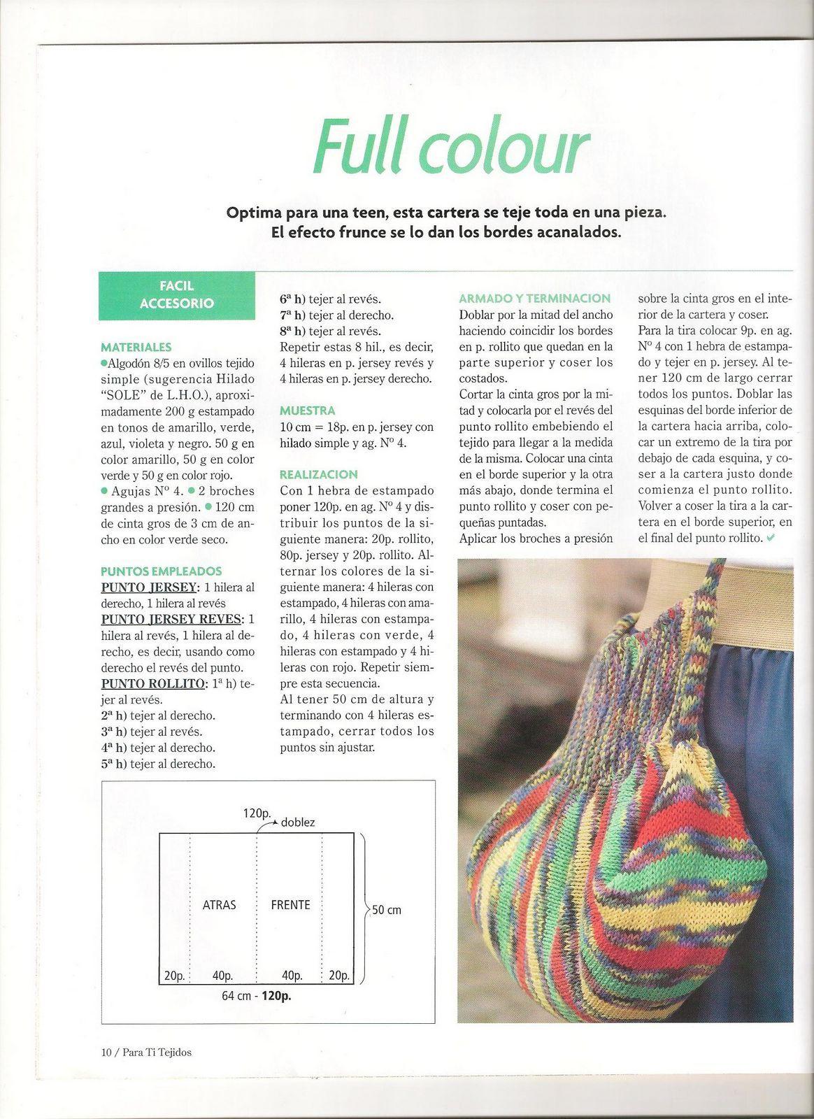 Bolso Crochet de una pieza Patron - Patrones Crochet | Bolsos ...