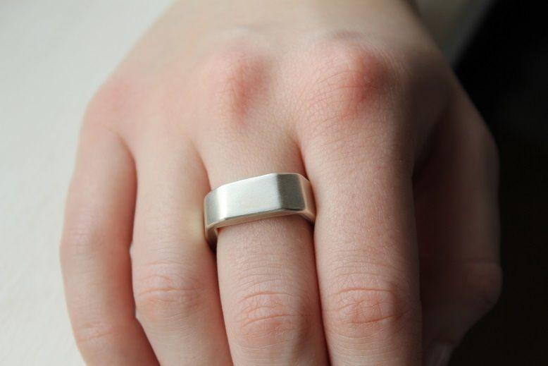 """Ring """"nicht rund"""" - 925erSilber von Melissa-Preissler auf DaWanda.com"""