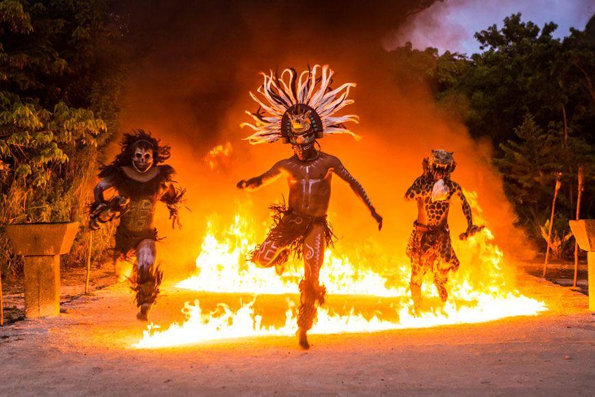 Maya fire dance