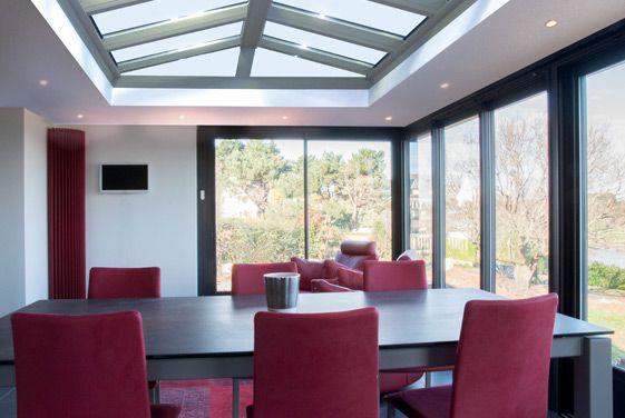 Lu0027intérieur du0027une véranda-extension à toit plat - Réalisation