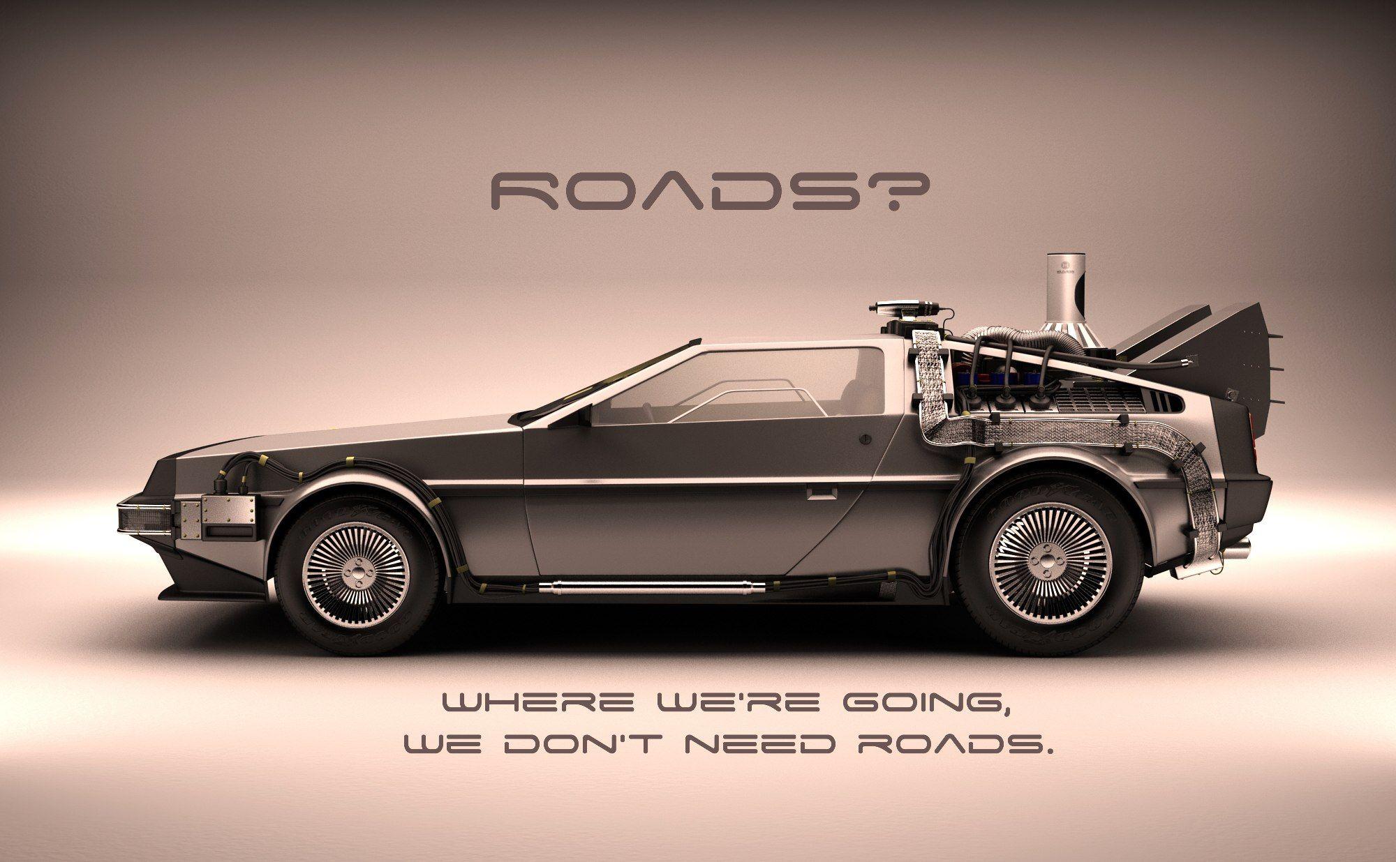 DeLorean DMC-12 Poster Print Back To The Future Car Collector Doc Brown
