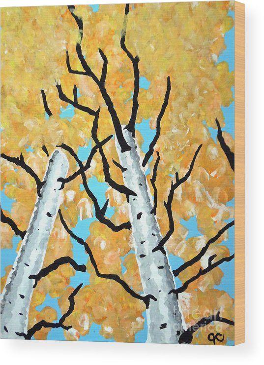 Birch Trees Wood Print by Jilian Cramb - AMothersFineArt | Tree ...