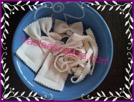 Pasta variada:farfalle , tallarines rizados y pasta rellena