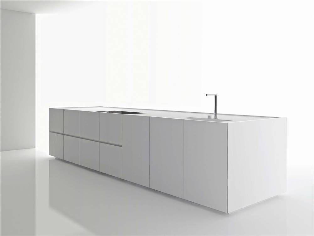 Werkblad staal SteelArt-Arbeitsplatte BLANCO DURINOX, Edelstahl - marquardt küchen berlin