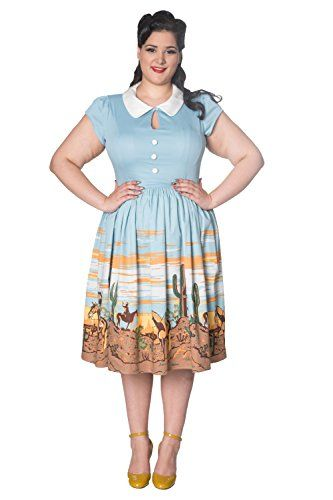 Banned Magical Day Plus Size Vintage Retro Dress - UK-22 ...
