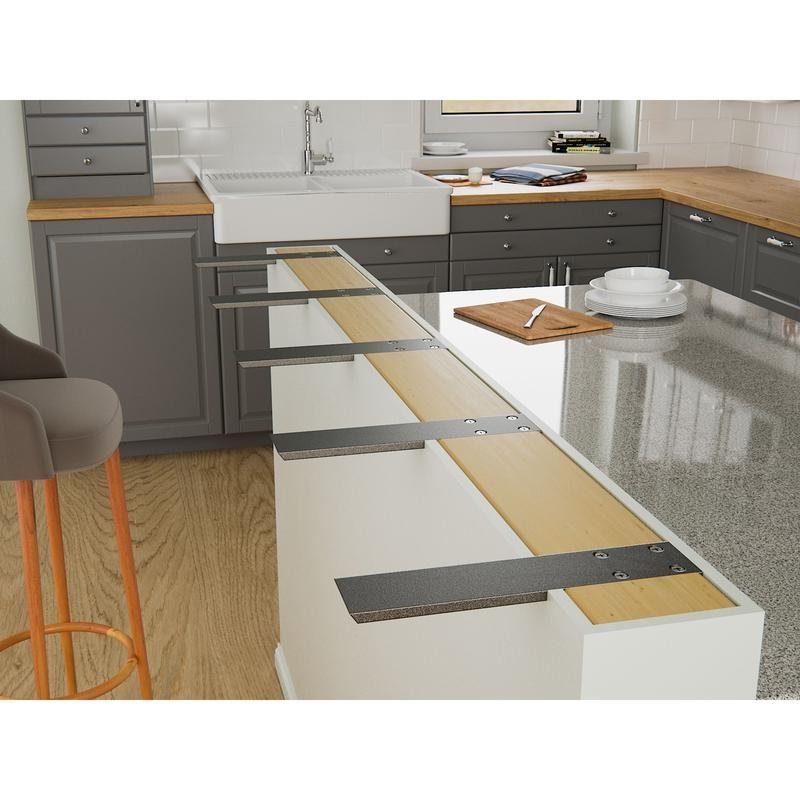 Hidden Countertop Brackets Support Your Granite Countertops