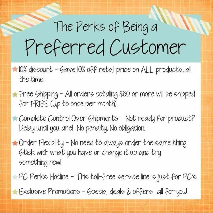 Preferred Customer Perks https://marilynosborne.myrandf.com ...