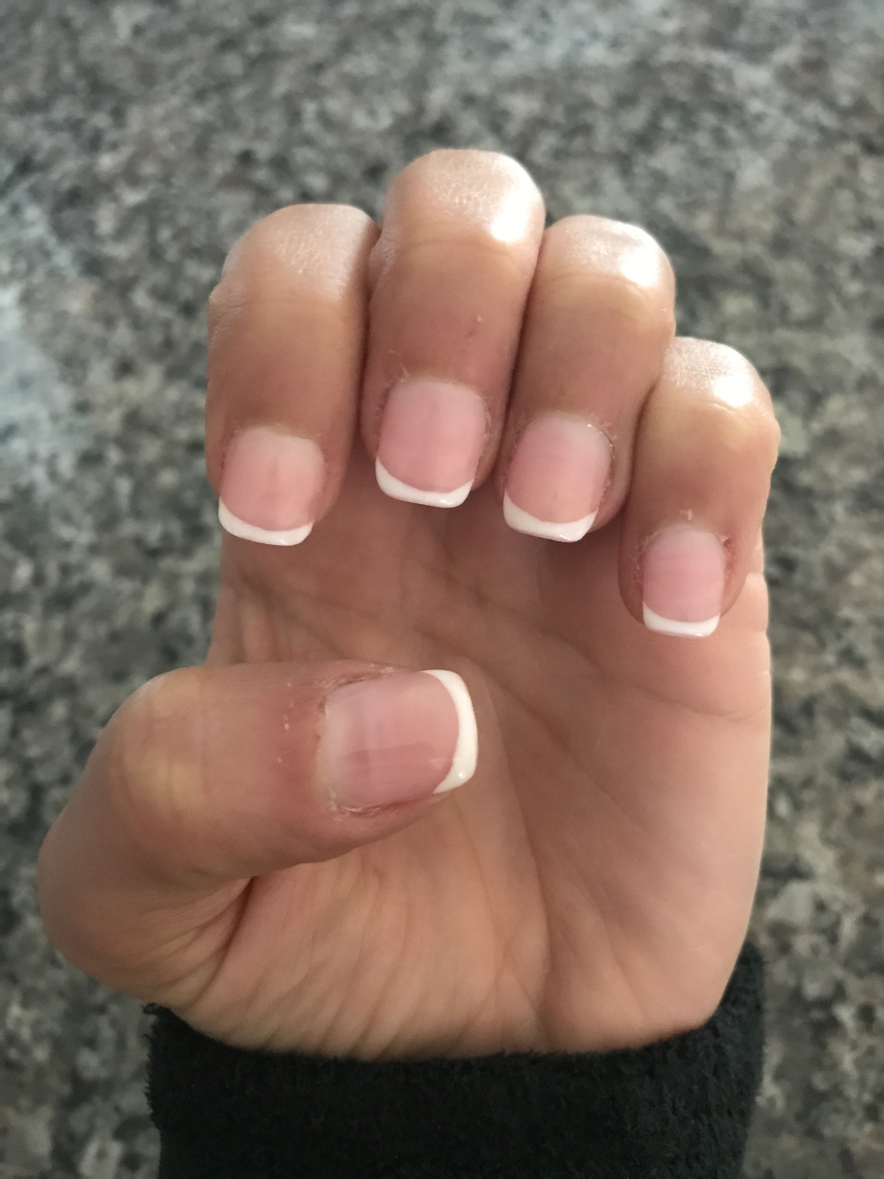 Pink gel overlay with French | Nails | Pinterest | Gel overlay ...
