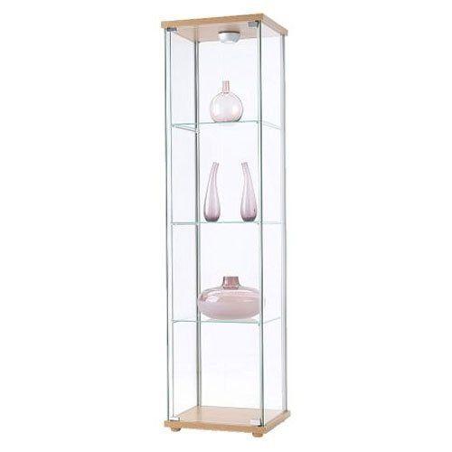 ikea detolf glass curio display cabinet light brownikea