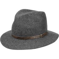 Lipodo Melange Sombrero de viajero con correa de cuero sombrero de fieltro sombrero de lana sombrero de fieltro de lana fieltro viajero Lipodolipodo