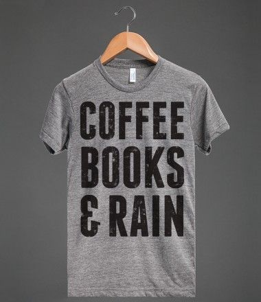 Coffee books & rain! Perfect for a lazy day around the house or at your favorite cafe!