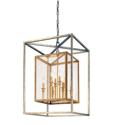 Troy Lighting F9998gsl Morgan 8 Light 21 Inch Gold Silver Leaf Entry Pendant Ceiling