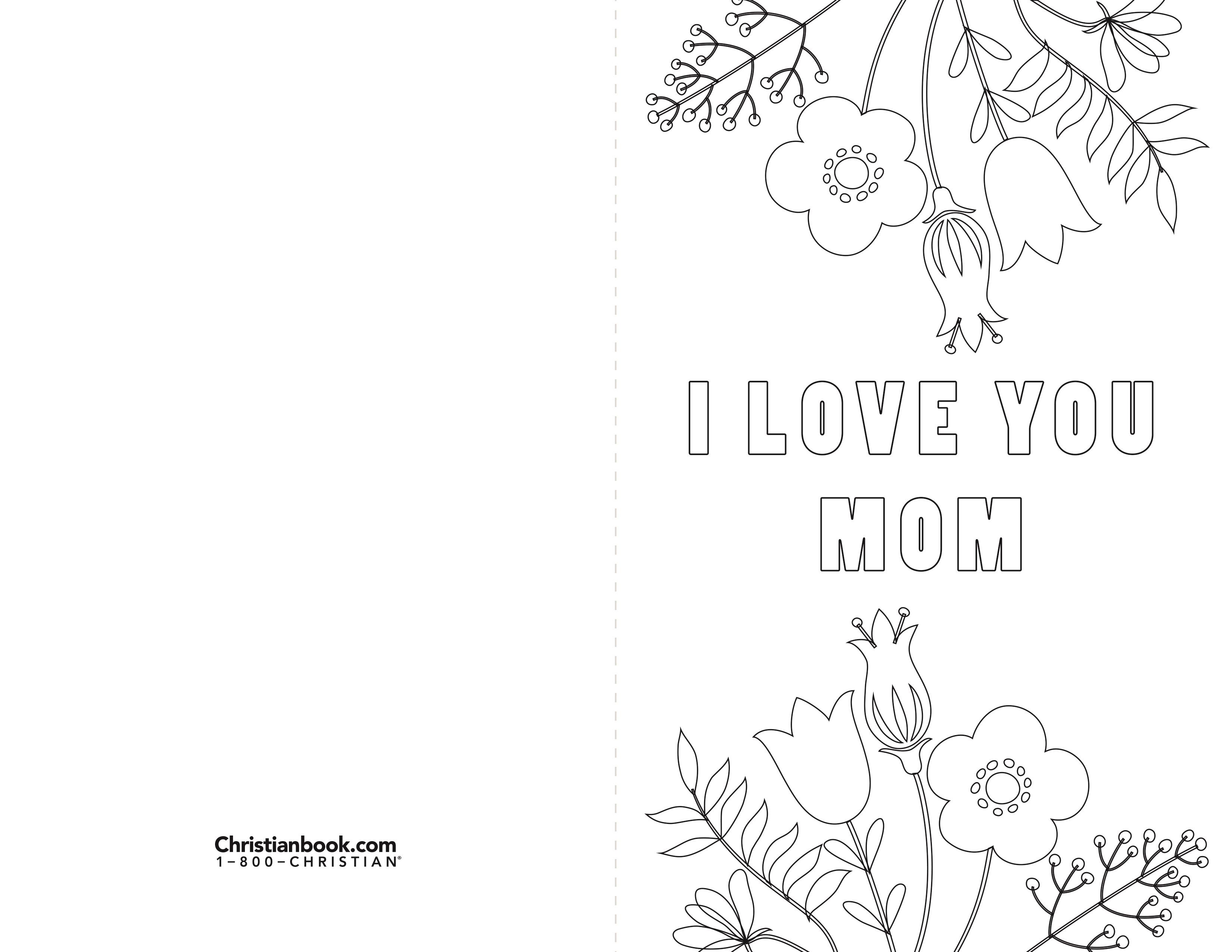 Free coloring page card for you to print out u share for motherus