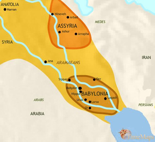 World History Timeline The Assyrian empire a late stage in ancient