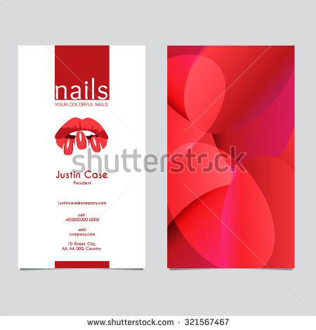 Womans lips nails silhouette vector icon business card template womans lips nails silhouette vector icon business card template business sign for beauty industry accmission Gallery