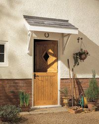 Porch+roof | Porch Kit - Flat Roof Porch Canopy 1200mm & Roof Canopy Kit u0026 Order A Window Canopy Or Window Awning Kit Or ...