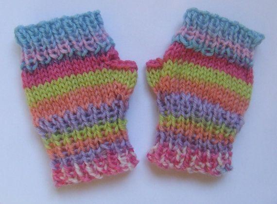 Fingerless baby girl mittens/wristwarmers  by TheYarnOwlsNest, £5.50