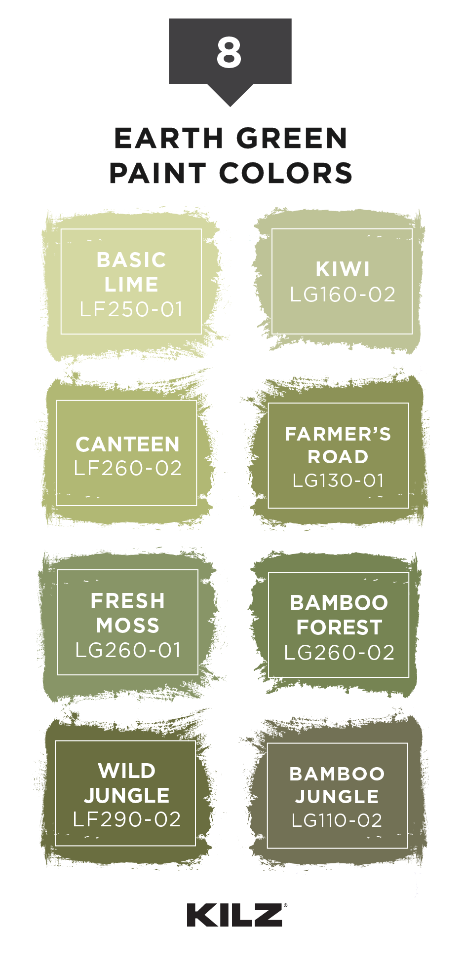 Add A Pop Of Earth Green Color To Your Home With This Paint Palette From