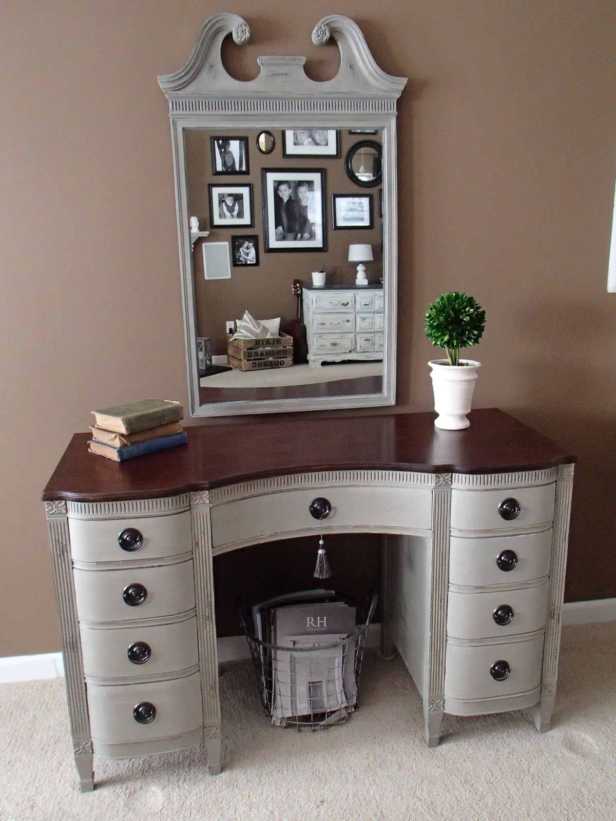 New again vintage vanity distressed ascp french linen idea for