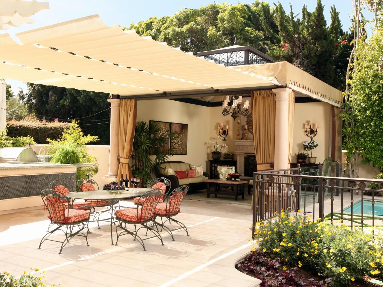 wonderful outdoor dining area design und dekoration ideen | pinterest