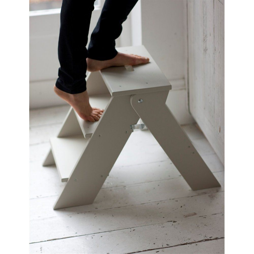 Betty Twyford Wooden Step Stool - Folding Kitchen Stool in Chalk  sc 1 st  Pinterest & Betty Twyford Wooden Step Stool | Build a step stool | Pinterest ... islam-shia.org