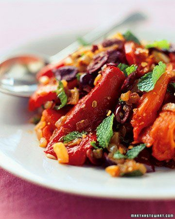 Roasted Red Saffron Peppers