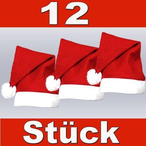 ae7f10486c4b0 PROMOTION: Lot de 12 Bonnets de Père Noel mere Noël qualité Alsino (wm-