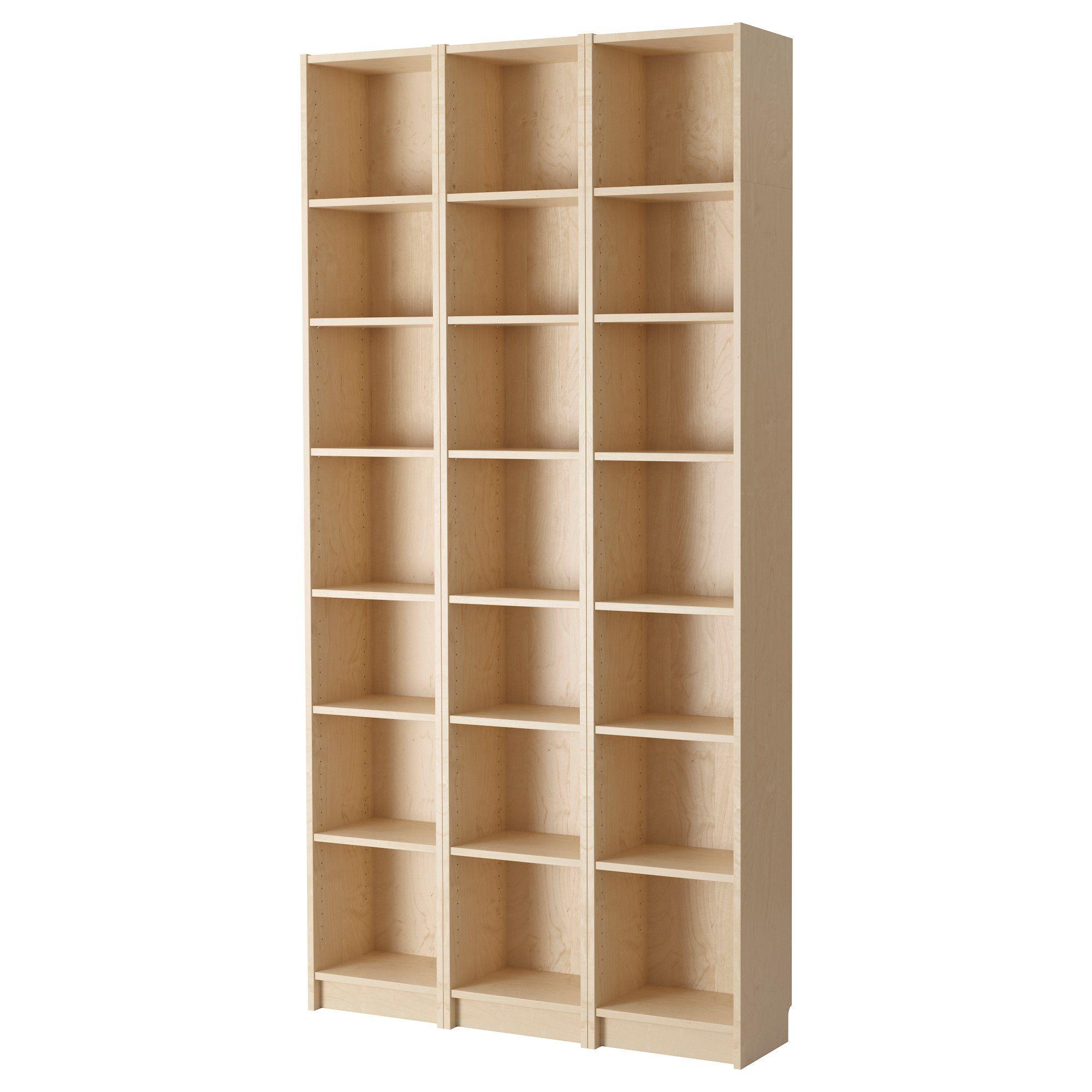 Billy Bookcase Birch Veneer 47 1 4x11x93 1 4 Ikea Bookshelves Billy Bookcase Ikea Bookcase