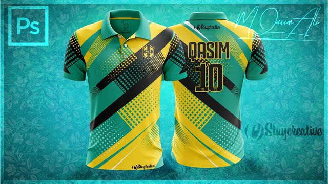 Download Photoshop Mockup Tutorial New Cricket Shirt Design In Photoshop By M Qasim Ali Sports Jersey Design Sports Tshirt Designs Sport Shirt Design