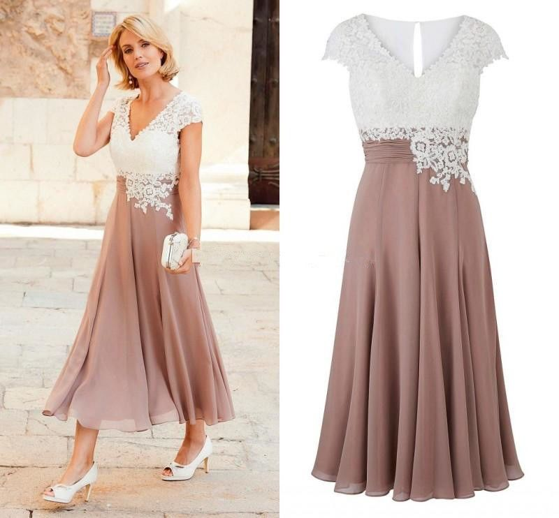 Plus Mother of the Bride Groom Wedding Dresses Tea-length Party ...