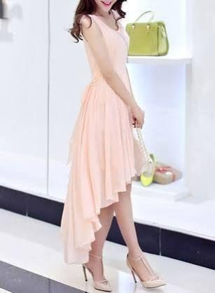 Chiffon kleider pink