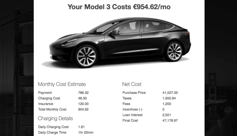 Tesla Calculator Estimates The Monthly Costs Of Owning A Model 3 Tesla Tesla Model Calculator