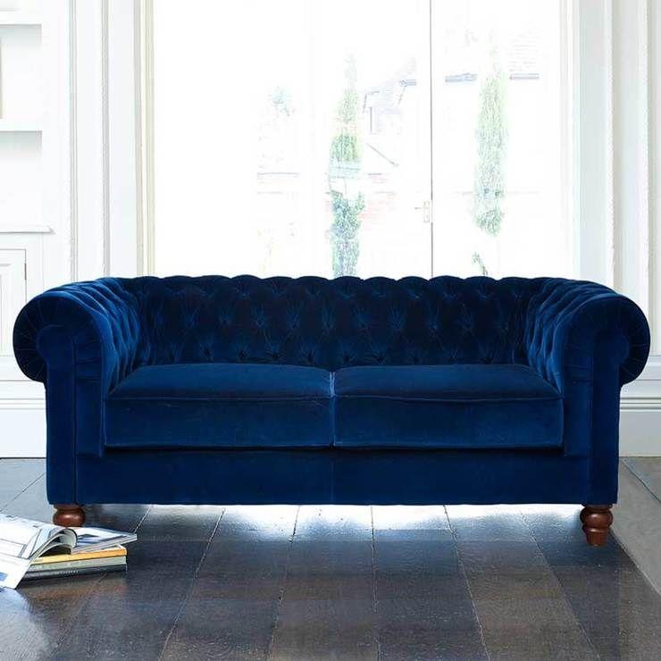 Chesterfield Velvet Sofa Blue Velvet Sofa Sofa Velvet Sofa Uk