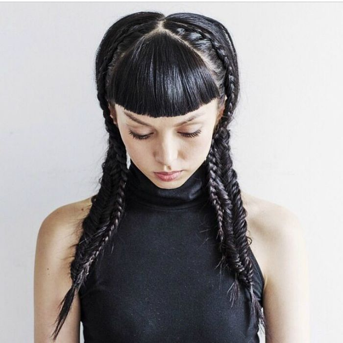 hair style plaits ss15 hair trend plaits missguided makeup hair nails 7515
