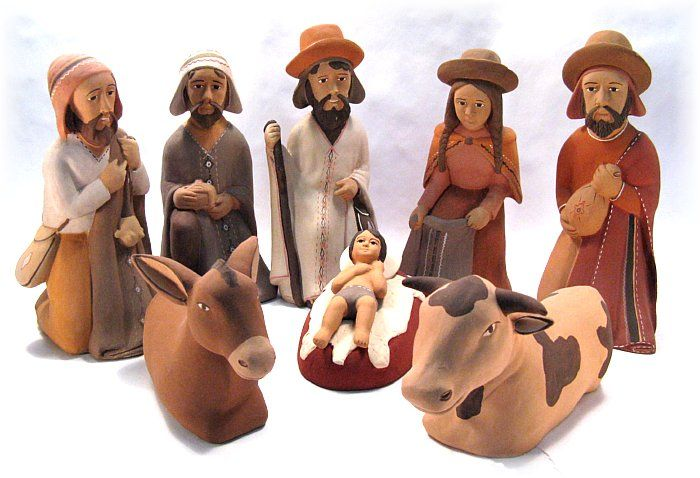 Painted Clay, Peru. Nativity Scenes and Creches from Central and South America