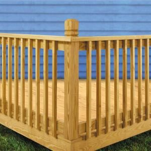 Weathershield 2 In X 2 In X 42 In Wood Pressure Treated Mitered 1 End B1e Baluster 16 Pack 186709 Deck Railing Design Deck Railing Diy Wood Deck Railing
