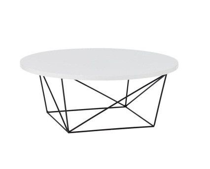 Round Gloss White Coffee Table Furniture from Coco 600 For